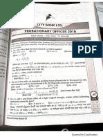 City bank PO 2016