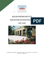 Shalom Hartman Institute English Publications Catalogue
