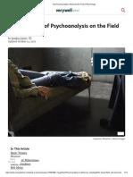 Psychoanalysis Influenced the Field of Psychology