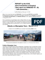 ICOE-Maungdaw Town Attacks, Summarized