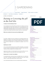 TERRACE GARDENING_ Raising or Lowering the PH in the Soil Mix