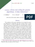 Binary versus real coding for genetic algorithms.A false dichotomy