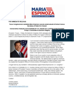 Kris Kobach Endorses Maria Espinoza for Congress