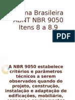 NBR 9050 Item 8 a 8.9