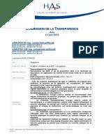 Commission de la transparence HAS 2015