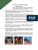 EVENTOS DE PISTA Y CAMPO EN ATLETISMO