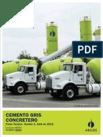 Ficha Cemento concretero