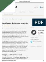 Certificado Do Google Analytics