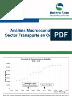 Análisis Macroeconómico Sector Transporte en Colombia