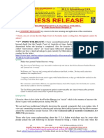 20200216-PRESS RELEASE Mr G. H. Schorel-Hlavka O.W.B. ISSUE – Re Pauline Hanson-Racism-Aboriginals, Etc