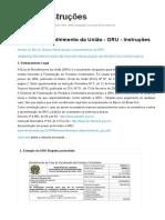 CONCESSÃO DE REGISTRO - CAC Gru - Instruções - Dfpc on Line