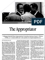 Rauch 1986 - The Appropriator  (Jamie L. Whitten & The Secrecy Inside House Appropriations)
