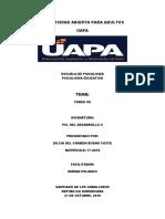 TAREA VII PSI. DEL DESARROLLO II