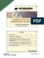 DISEÑO DE PISTAS DE TRANSPORTE EN MINERIA