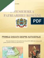 Prezentare power point Întemeierea Patriarhiei Române