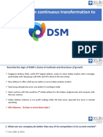 Royal DSM- From continous transformation to organic growth