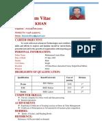 sample Faiez Curriculum Bcom