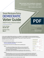 TxMJPolicy Voter Guide | 2020 Primary Edition - Democratic Candidates