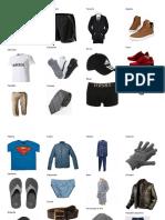 25 prendas de vestir de hombre