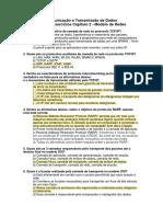 Lista de Exercícios - Capítulo 2 - Comunicação e Transmissão de Dados