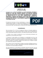 Decreto Ferias 2020 Remate Ferias