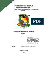 monografia de evaluacion en la educacion superior
