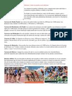 Atletismo y Todas Las Pruebas en El Atletismo