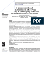 E-government and transformation of service delivery in developing countries