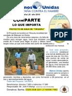 Cartel proyecto Kenia Agua