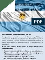 La gran inmigracion en argentina 1880