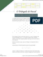 O Triângulo de Pascal