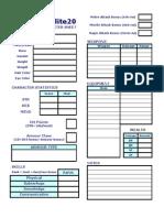 Micro Lite 20 Character Sheet