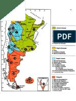 Mapa de las provincias geologicas Argentinas