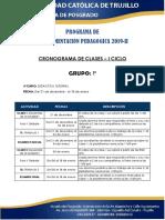 CRONOGRAMA  DE ACTIVIDADES -  CP 2019 - II - P