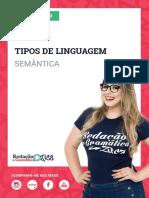 AULA 1 - Semântica - Tipos de Linguagem - Profa. Pamba