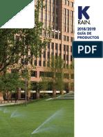 K RAIN 2018-2019 Product Catalog Spanish
