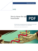 How to Choose a Board Leader