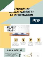 MÉTODOS DE ORGANIZACIÓN DE LA INFORMACIÓN