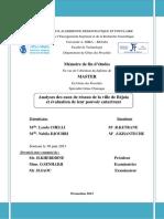 Analyses des eaux de réseau de la ville de béjaia et évaluation de leur pouvoir entartant.pdf