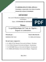 La problématique de l'eau en Algérie  Enjeux et contraintes.pdf