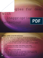dealing with inappropriate behaviour