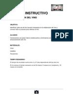 INSTRUCTIVOS DE LA ELABORACION DEL VINO