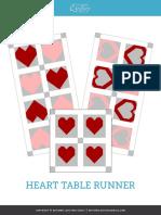 Heart Table Runner Pattern