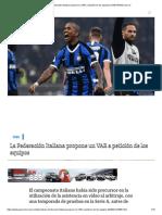 La Federación Italiana propone un VAR a petición de los equipos