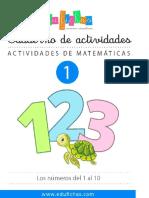 FICHAS DE LOS NUMEROS DEL 1 AL 20