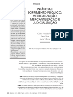 infancia e sofrimento psiquico mediclizacao judicializacao psicanalise