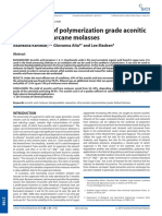The recovery of polymerization grade aconitic acid