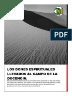 los dones espirituales LLEVADOS AL CAMPO DE LA DOCENCIA