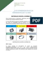 NORMAS DE ESTANDARIZACION DE LAS HERRAMIENTAS (ISO Y LA DIM)