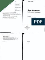 DERRIDA, Jacques - Alguns Envios do Cartão-Postal